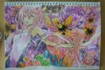 Guilty crown *first watercolor test* ^^ by aBunny15