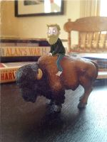 Self Portrait with Bison by Douglasbot