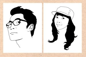 Gilang and Rika outline by Rizkyseptian