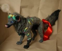 lil pup OOAK art doll by hikigane