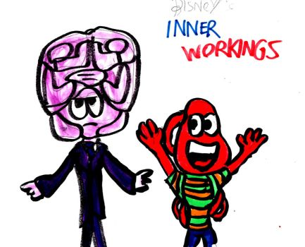 Disney Inner Workings: Brain and Heart by SonicClone