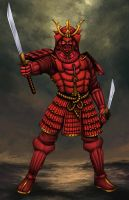 The Red Samurai by johnbecaro