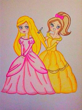 My version of Kreamimi's anime Disney princesses  by MademoiselleMargaret