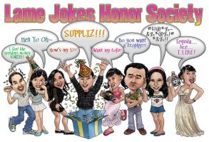 Group Caricature by otas32