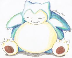 Snorlax soft by Larrington-SS