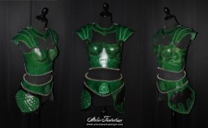 Leather elfic 'Thalestris' armor by AtelierFantastique