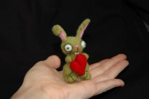Cute Zombie Bunny Valentine by amber-rose-creations