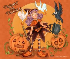 Halloween Fun Trick or Treat by Gabycat