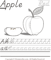 Mommysbiz | A-Apple-Green Preschool Worksheet by DanaHaynes