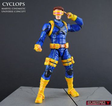 MCU style Cyclops custom Marvel Legends figure by Jin-Saotome