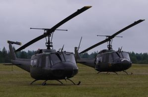 UH-1s on the ground by shelbs2