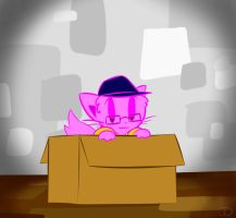 In a box by THEpinknekos