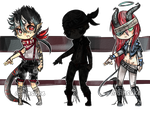 MachineGin Collab Set price OPEN - one left! by Ginsuke