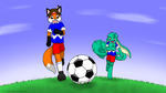 Chase for the ball by MarwanGreenCritter