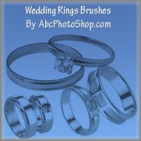 wedding rings brushes by abcphotoshop