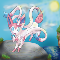 Sylveon - AGAIN :3 by Cinnamon-Quails