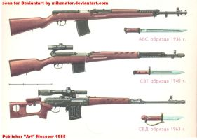 Card 2 - AVS-36, SVT-40,  Legendary SVD by Mihenator