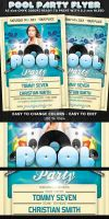 Pool Party Flyer Template by Hotpindesigns