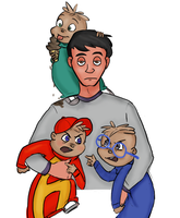 Dave and his boys by JoyWillCome