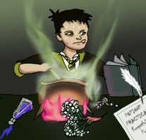 Pottermore Forget Me Not by horyokun
