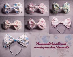 Floral Print Headbows by nihilistique