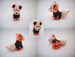 Chibi Growlithe Sculpture by CharredPinappleTart