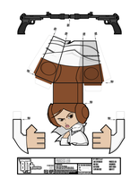BIT+ Series 8 New Hope Princess Leia Sheet by IdeatoPaperStudios