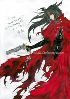 Commission: Vincent Valentine by Kie-chan