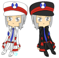 Chibi Emmet and Ingo by ZombifiedTorment