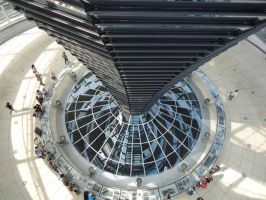 Inside the Reichstag-Dome by Arminius1871