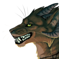 Evil grin by HeatherWolf