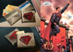 The wallet 'Superman:Red Son' with it's prototype by eiphen