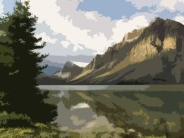 Mountains - Digital Painting by bigrdesign
