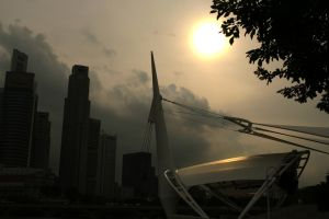 GLoomy Sunset in Singapore by Galen82