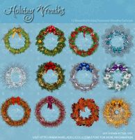 Holiday Wreaths by ImaginedMoments