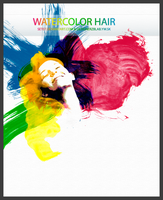 WATERCOLOR HAIR PSD by SET07