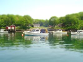 TiltShift Set 1 - Lobster Boat by photos