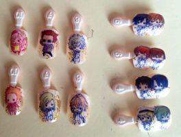 Uta no Prince-sama Nail Art by Falcofan100