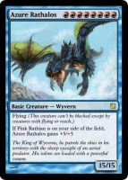 Azure Rathalos Card by BizzarreCoyote