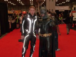 Tron and Batman by nx20