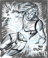 lightning lad sketch by hyperjack08
