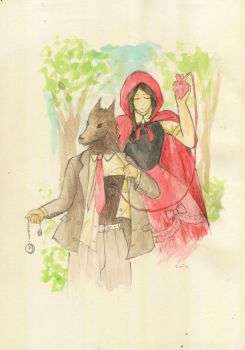 Red Riding Hood and Wolf's Heart by sangalit