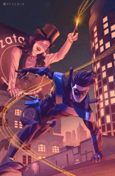 Nightwing and Zatanna by Pryce14