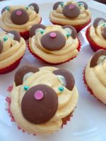 Sticky Toffee Teddy Cupcakes by ponychops