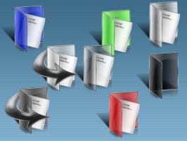 Colored Folders - XP Icons by spider4webdesign