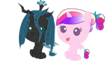 Baby Chrysalis and Baby Cadence by ConvoyKaiser