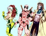Rogue Deadpool Gambit by GordonAlyx