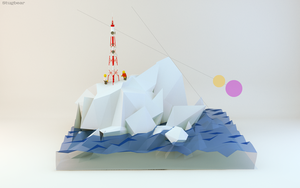 Low poly Scene #4 by Gelbaxa