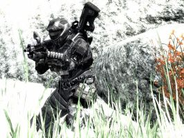 Halo Reach: the soldier by purpledragon104