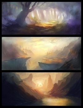 Fantasy-Landscape Sketch Collection by danielwachter
